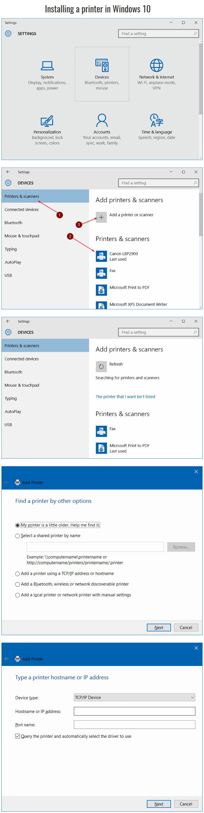 Install A Printer In Windows 10