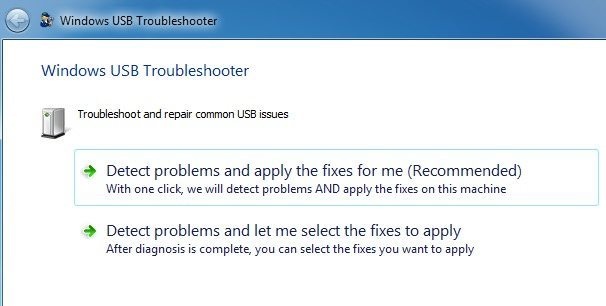 Windows USB Troubleshooter