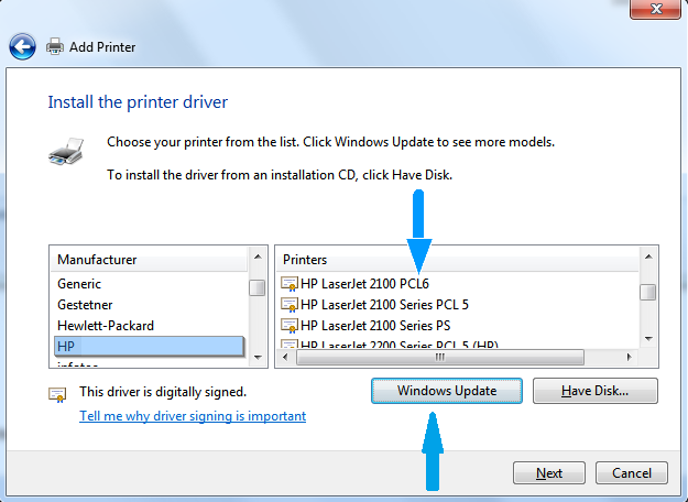 HP PCL 6 Printer drivers download