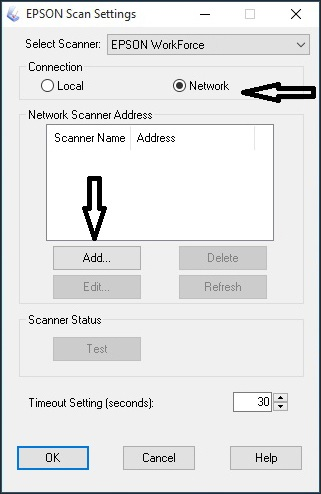 Setting Up Network Scanning