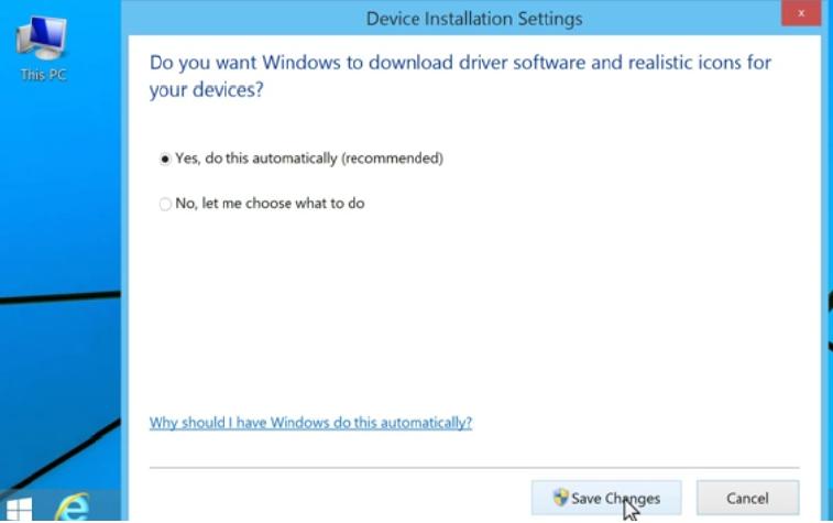 windows 8 drivers update automatically settings